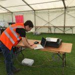Curve IT checking WiFi signal at Brighton Pride